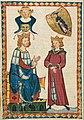 King Tyro von Schotten and His Son Fridebrant from Codex Manesse, 1305-40 (40737212230).jpg