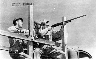 Kingman Airport (Arizona) - Skeet firing training, 1944
