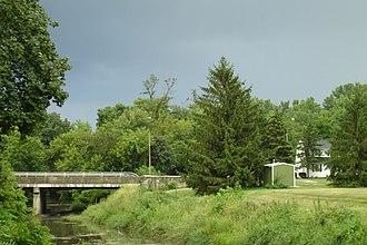Kishwaukee River - A mid September thunderstorm rolls into DeKalb over the Kishwaukee River.