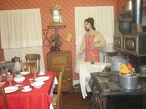 Pioneer West Museum - Image: Kitchen exhibit at Pioneer West Museum, Shamrock, TX IMG 6146