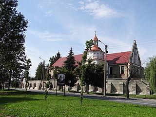 Brzeziny Place in Łódź Voivodeship, Poland