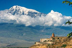 Mount Ararat and Khor Virap Monastary