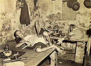 Tiretta Bazaar - An opium den in the China Town, Kolkata, 1945
