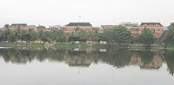Writers' Building across Lal Dighi in B.B.D. Bagh