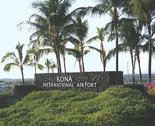 airport near Kailua-Kona, Hawaii