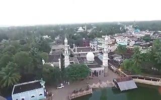 Koothanallur Town in Tamil Nadu, India
