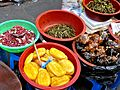 Korean food-Jangajji and namul at Namdaemun Market in Seoul-01.jpg