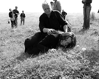 Attack on Orahovac - Relatives of murdered Serb abductees from villages Opteruša and Retimlje.