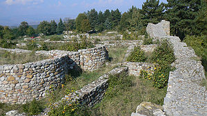 Pernik - The medieval Bulgarian fortress of Krakra, overlooking the city