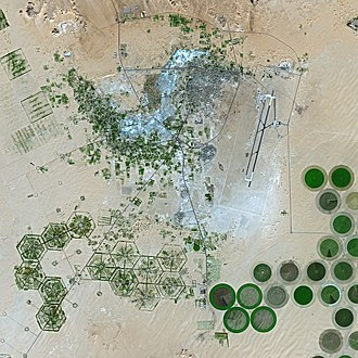 Kufra - Kufra irrigation circles seen from the SPOT 5 satellite