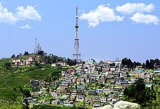 Kurseong Town in West Bengal, India
