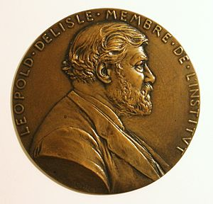 Léopold Victor Delisle - Léopold Delisle medal by Louis-Oscar Roty
