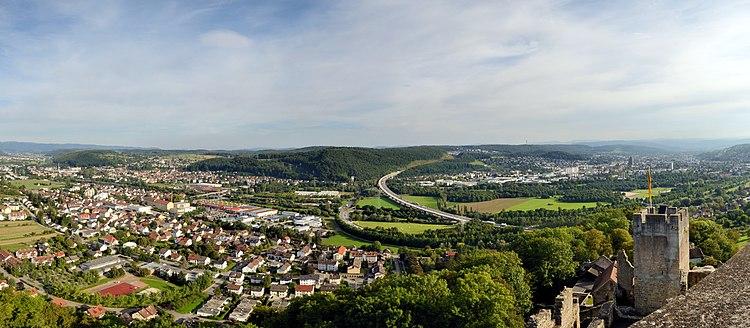 Lörrach - Burg Rötteln - Panorama2.jpg