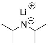Strukturformeln von Lithiumdiisopropylamid