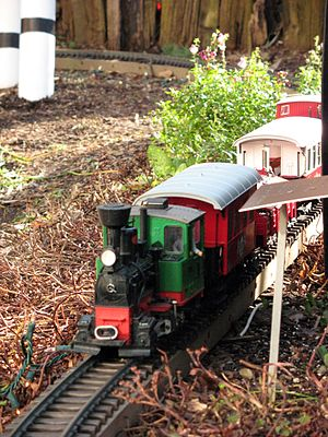 LGB (trains) - A typical LGB model train on a garden railway layout.