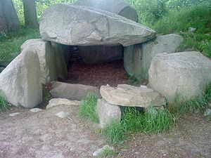 Funnelbeaker culture - Dolmen in Lancken-Granitz, one of about 1,000 preserved TRB burial sites in Mecklenburg-Vorpommern