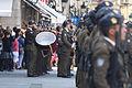 La Banda de Guerra de la BRILAT acompañando la Jura de Bandera (15426332776).jpg