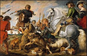 The Hippopotamus and Crocodile Hunt - Image: La Chasse au loup et au renard Rubens