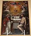 La Gloria dell'Eucarestia con i Santi Biagio e Sebastiano di Antonio Circignani detto Il Pomarancio, 1614.jpg