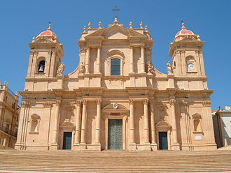 1693 Sicily earthquake - The Cathedral of Noto, one of the many buildings constructed in Sicilian Baroque style after the earthquake