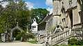 Lacock Abbey, Looking back along the West Side towards the Brewhouse. - panoramio.jpg