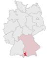Lage des Landkreises Ostallgäu in Deutschland.PNG