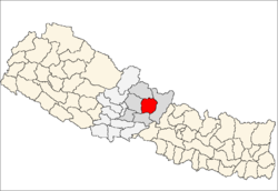map of Lamjung, Nepal