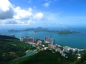 Pok Fu Lam - Overlooking Pok Fu Lam and Lamma Island from High West