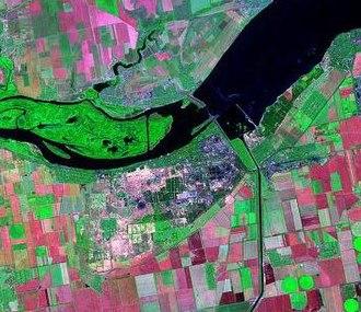 Nova Kakhovka - Landsat image of Nova Kakhovka.