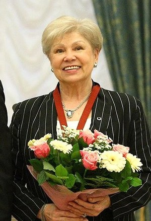 Larisa Latynina - Latynina in the Kremlin in 2010