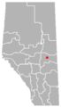 Lavoy, Alberta location.png