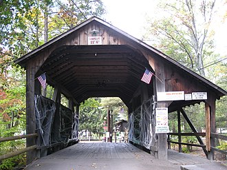 Lawrence L. Knoebel Covered Bridge - The bridge decorated for Halloween in 2012