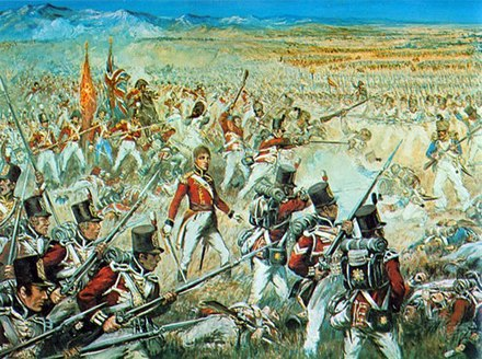 The 3rd Foot Guards at the battle of Talavera Le 3rd Foot Guards a la bataille de Talavera, le 28 juillet 1809.jpg