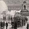 Le maréchal-président de la République et le cortège officiel traversant le parc du Trocadéro.jpg