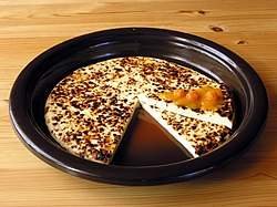 Leipäjuusto cheese with cloudberry jam.jpg