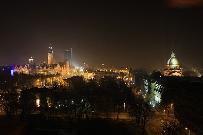 Leipzig at night