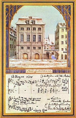 Gewandhaus - Image: Leipzig Gewandhaus 1781