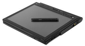 Microsoft Tablet PC - A Lenovo X61 in slate mode