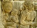 Level 1, Inner Wall Bottom - Borobudur - 048 Divyavadana, South Wall, Panel 31, Mandhatar (detail, far left) (8598542221).jpg