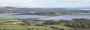 River Leven, Cumbria - The Leven at its estuary stage, near Ulverston