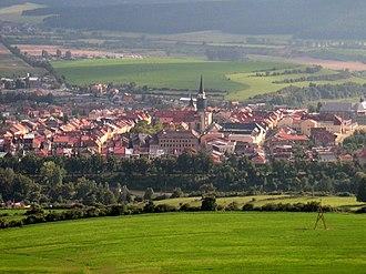 Royal free city - Levoča (Lőcse) from Mariánska hora (Máriahegy)
