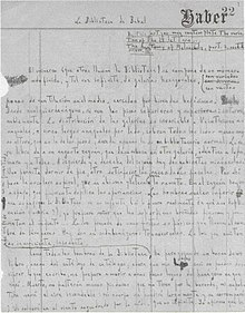 Library of Babel - first page of hand written manuscript - Jorge Luis Borges - 1941.jpg