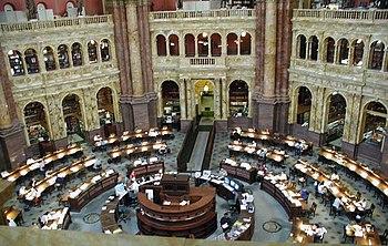 Sala di lettura della Library of Congress