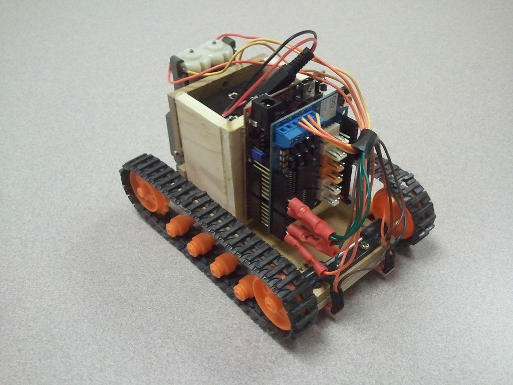 Line following robot using an arduino motor control shield