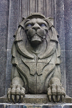 Charles Marega - One of Marega's lions at the south end of the Lions Gate Bridge