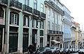 Lisbon, a row of houses on the Rua da Madalena.JPG