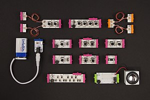 Ayah Bdeir - littleBits Synth Kit components