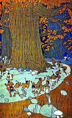 Little people (mythology) - Little people from Stories Iroquois Tell Their Children by Mabel Powers, 1917