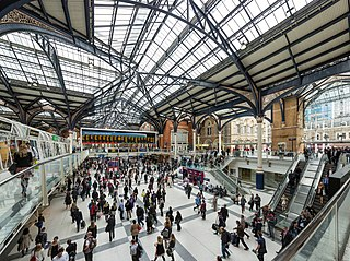 Liverpool Street station London Underground and railway station