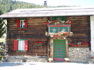 Livigno - Typical baita in Livigno.